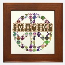 Imagine Peace On Earth Framed Tile