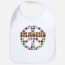 Imagine Peace On Earth Bib
