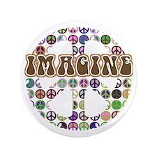 "Imagine Peace On Earth 3.5"" Button"