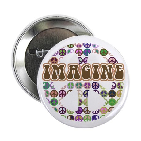 """Imagine Peace On Earth 2.25"""" Button (100 pack)"""