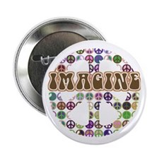 "Imagine Peace On Earth 2.25"" Button"