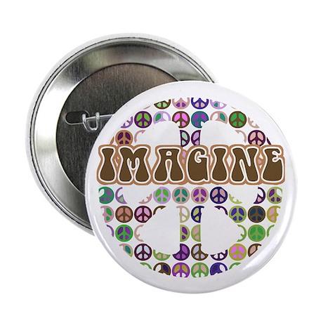 "Imagine Peace On Earth 2.25"" Button"