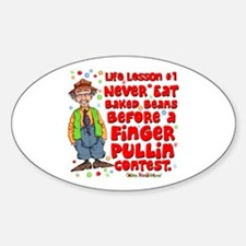 Never Eat Beans Oval Sticker (10 pk)