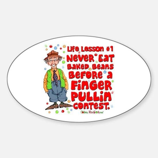 Never Eat Beans Oval Sticker (10 pk)