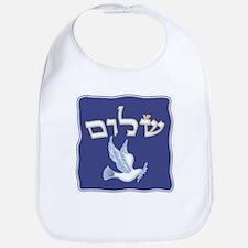 Shalom w/Dove /Bg (Hebrew) Bib