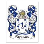 Fagundes Family Crest Small Poster