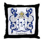 Fagundes Family Crest Throw Pillow