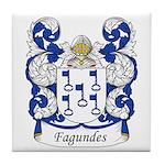 Fagundes Family Crest Tile Coaster