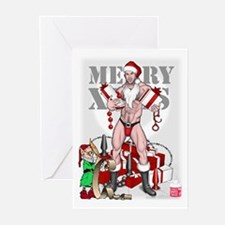 merry xmas daddy Greeting Cards (Pk of 10)