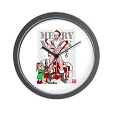 merry xmas daddy Wall Clock