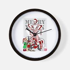 merry xmas daddy Wall Clock
