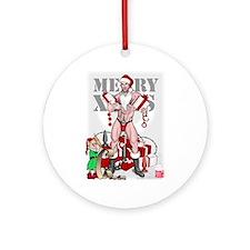 merry xmas daddy Ornament (Round)