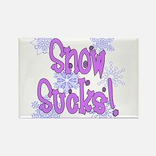 Snow Sucks! /lav Rectangle Magnet