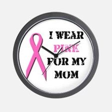 I Wear Pink For My Mom Wall Clock