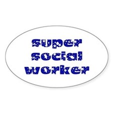 super social worker (Navy) Oval Decal