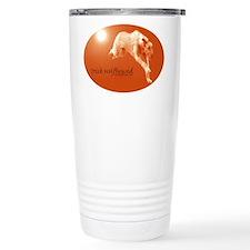Red Irish Wolfhound Running Travel Mug