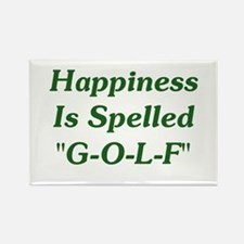 """Happiness Is """"G-O-L-F"""" Rectangle Magnet"""