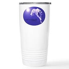 Blue Irish Wolfhound Running Travel Mug