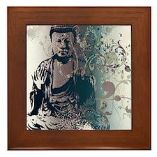 Pretty Buddha Framed Tile