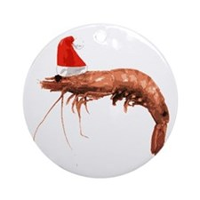 Christmas Shrimp Ornament (Round)