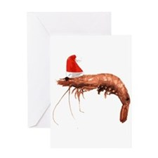 Christmas Shrimp Greeting Card