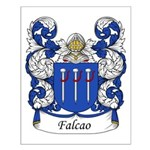 Falcao Family Crest Small Poster