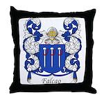 Falcao Family Crest Throw Pillow