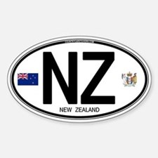 New Zealand Euro Oval Oval Bumper Stickers