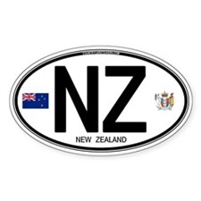 New Zealand Euro Oval Oval Decal