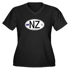 New Zealand Euro Oval Women's Plus Size V-Neck Dar