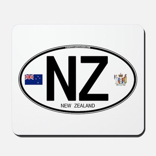 New Zealand Euro Oval Mousepad