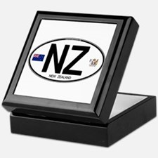 New Zealand Euro Oval Keepsake Box
