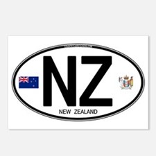 New Zealand Euro Oval Postcards (Package of 8)