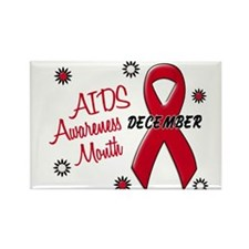 AIDS Awareness Month 1.1 Rectangle Magnet