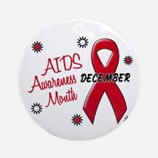 AIDS Awareness Month 1.1 Ornament (Round)