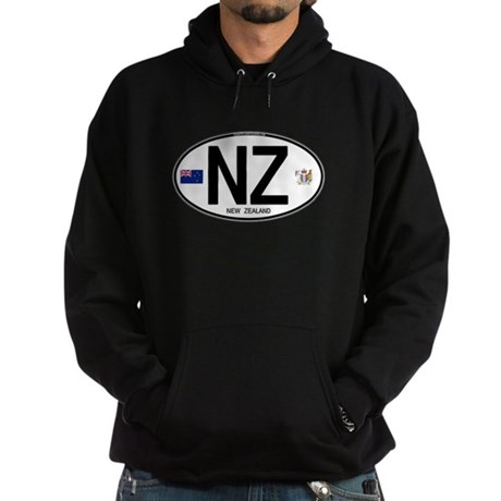 New Zealand Euro Oval Hoodie (dark)