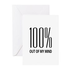 100% Out Of My Mind Greeting Cards (Pk of 20)