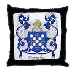 Farinha Family Crest Throw Pillow
