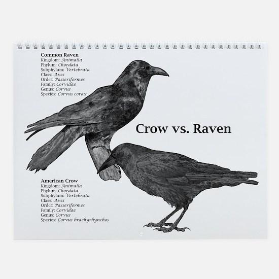 Crow vs. Raven Wall Calendar
