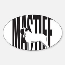 Big MASTIFF Oval Decal