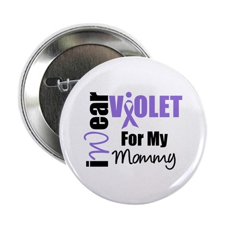 "I Wear Violet Ribbon 2.25"" Button (10 pack)"
