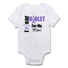I Wear Violet Ribbon Infant Bodysuit