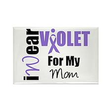 I Wear Violet Ribbon Rectangle Magnet