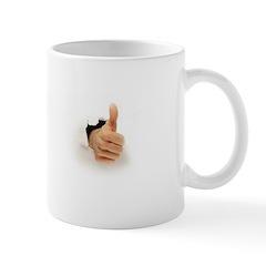 thumb out and up Mug