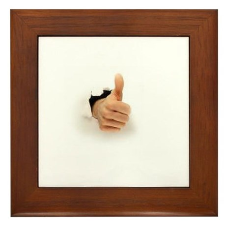 thumb out and up Framed Tile