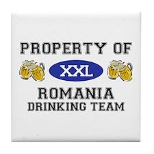 Property of Romania Drinking Team Tile Coaster