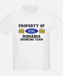 Property of Romania Drinking Team T-Shirt