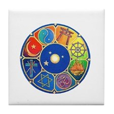 world religion Tile Coaster