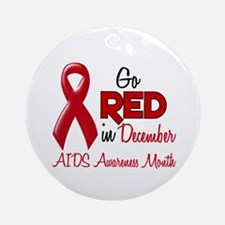 AIDS Awareness Month 1.2 Ornament (Round)