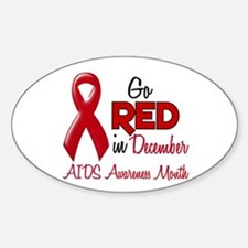 AIDS Awareness Month 1.2 Oval Decal